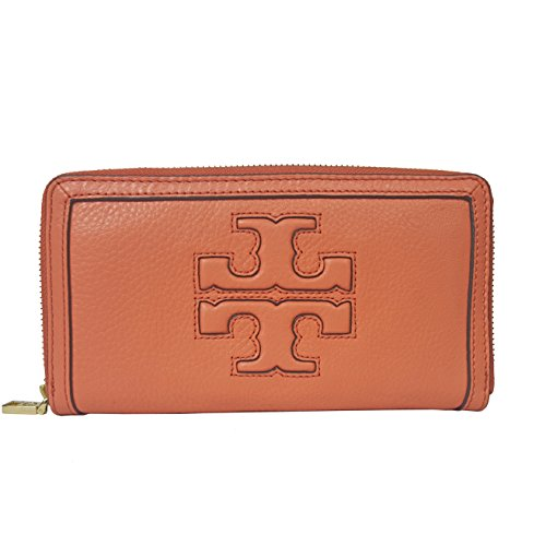 Jessica Leather Wallet (Tory Burch Wallet Jessica Leather Zip Continental Snapdragon)