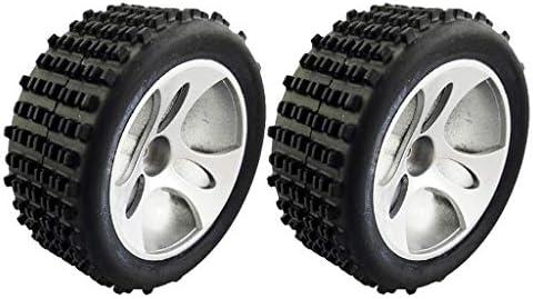 2個 プラスチック RCカータイヤ A959-01 1/18 WLtoys A959適用