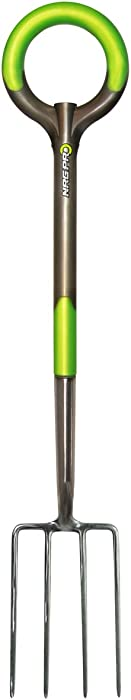 Radius Garden 203 PRO Garden Stainless Steel Digging Fork, One Size, Original Green