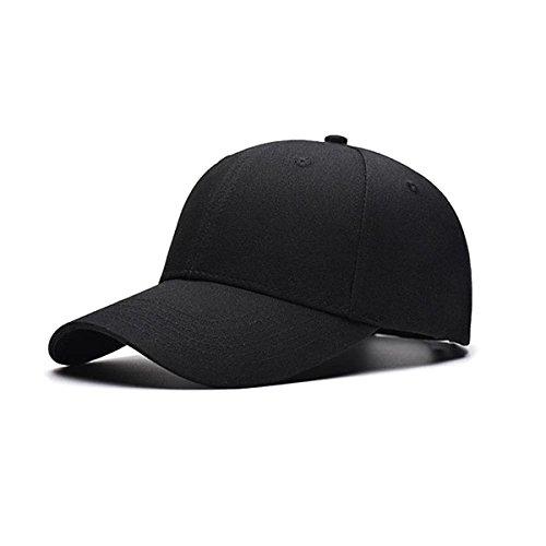 TRADERPLUS Cotton Plain Baseball Cap Blank Hat Solid Color, Adult (Black) (Baseball Cap Black Basketball)