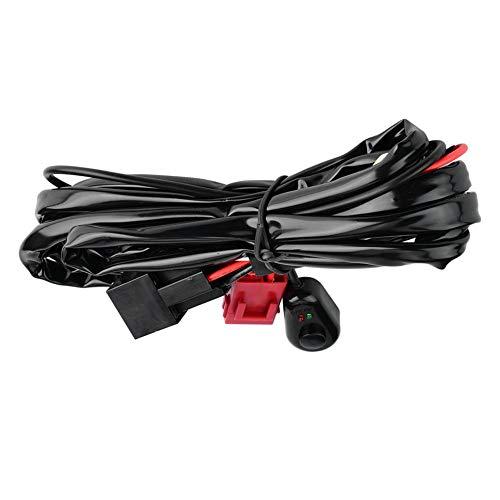 Duokon 2m Car Wiring Harness Kit,Metal + plastic Work Driving light Wiring Harness,Relay Harness: