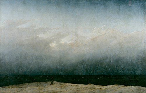 Fixed Yoke (Oil Painting 'Caspar David Friedrich Der Monch Am Meer', 30 x 47 inch / 76 x 120 cm , on High Definition HD canvas prints is for Gifts And Foyer, Nursery And Study Room Decoration, graphs)