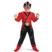 Power Rangers Red Samurai Ranger Muscle Chest Toddler Costume (Red) Size 2T