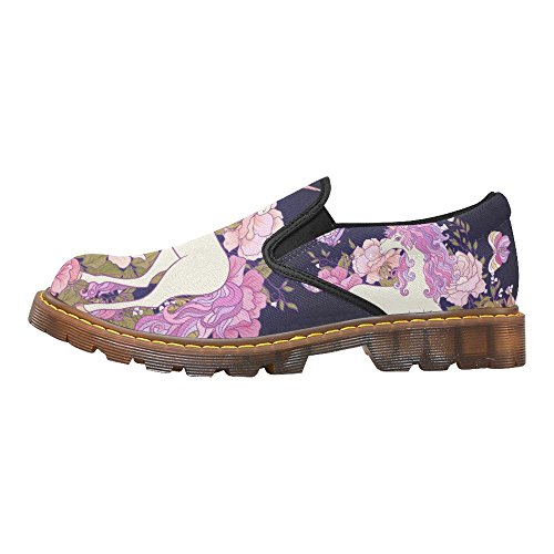 D-histoire Fahion Chaussures Note De Musique Femmes Slip-on Mocassins Casual Bottines Multi14
