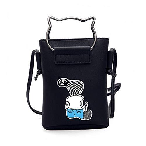 matériel de Le portatif sur d'impression Mini matérielle Noir d'épaule coréenne épaisse ZHRUI Commande Mignon du Fait Version de Paquet Femmes de Sac d'épaisseur 5AqOwx4