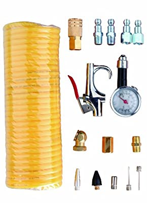 Freeman APWH1414A Automotive Pneumatic Accessory Pack with Hose, 16-Piece
