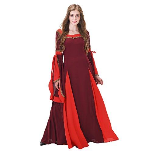Cheap Renaissance Costumes (1791's lady Medieval/renaissance dresses NQ0030-2-M)