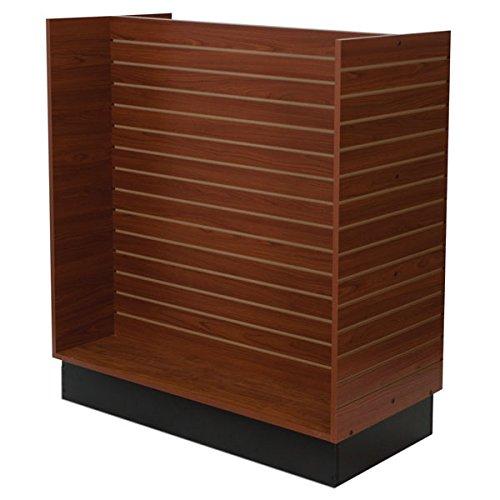 KC Store Fixtures 01554 Slatwall H-Unit, 48'' x 24'' x 54'' High, Cherry