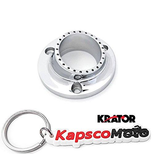 KapscoMoto Keychain Krator Yamaha Bruin 350 Grizzly 660 350 Kodiak 400//450 Rhino 450 660 Wolverine 350//450 ATV UTV Exhaust Tip Muffler Power Outlet Polished Chrome