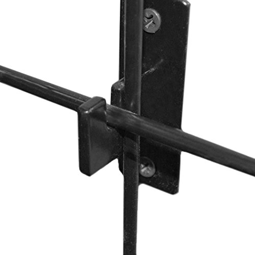Thin Line Gridwall Wall Mounting Brackets, Mounts 1'' from Wall - 1'' W - 4 Pack by Store Fixtures Direct