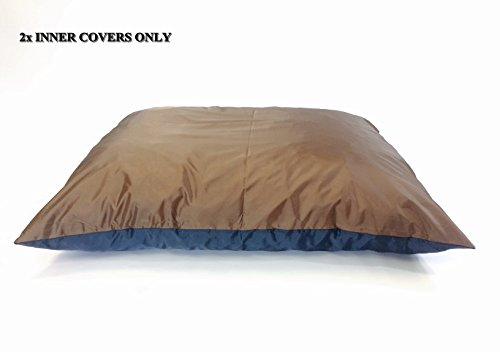 American Comfort Warehouse 2 Quantity of 47''x29'' Large size Top Brown Full Waterproof Bottom Blue Breathable Water Resistant Flat Dog Bed Liner - Internal Cover Case by American Comfort Warehouse