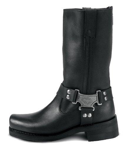 Milwaukee Motorcycle Clothing Company Botas Clásicas De Cuero Para Mujer Harness Leather (negro, Talla 9c)