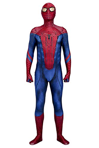 The Amazing Spider Man 3D Original Movie Halloween Cosplay Zentai Bodysuit (Large) Red/Blue -