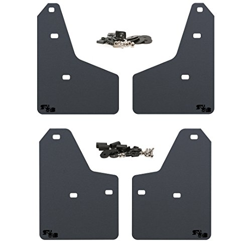 2012+ Ford Focus ST Mud Flaps by RokBlokz - Multiple Colors Available - Set of 4 - Fits all MK3 Models - Includes All Hardware and Detailed Instructions (Black with Black Logo, Originalz) Ford Focus Mud Flaps