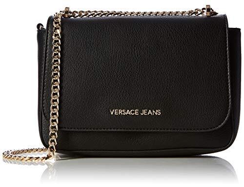 X Donna 7x17x24 Versace Tracolla w Borsa Cm Bag Jeans A L H Nero YUwq1xXzq