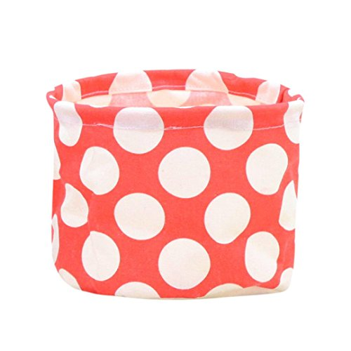 Oldeagle Waterproof Canvas Laundry Clothes Basket Storage Basket Folding Storage Box (Red) (Laundry Dividers With Basket Plastic)