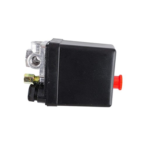 90-120 PSI 240V Air Compressor Pressure Switch Control Valve,Central Pneumatic Air Compressor Pressure Switch Control Valve Replacement Parts (1PC)