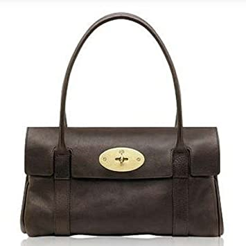 58fab460303 Amazon.com   Mulberry Bag East West Bayswater Chocolate   Cosmetic Tote Bags    Beauty