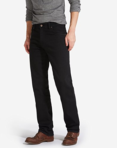 Wrangler Uomo Stretch Overdye Jeans 30w Nero 30l 004 black Texas pw4rq6p