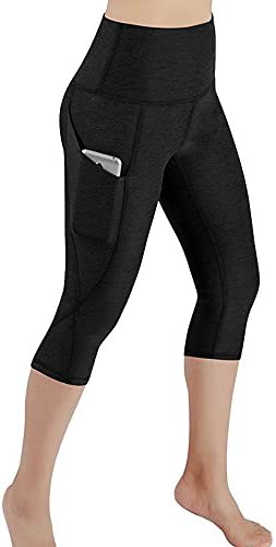 CmmYYrei Women Sports Leggings High Waist Workout Running Stretch Yoga Legging Pants Athletic Sport Pants Capri with Pocket