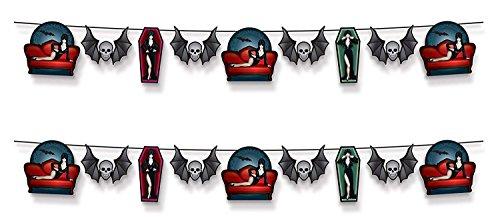 Beistle 394 Elvira Queen of Halloween Streamers, 2 Piece, 6.75
