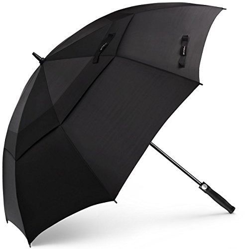 SHINE HAI Golf Umbrella 62 Inch Oversize, Automatic Open Double Canopy Vented Windproof Waterproof Sun Protection Stick Umbrellas, -