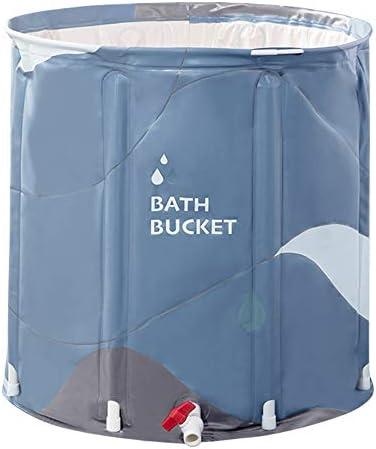 浴槽 三色がありますバスバレルアダルト折りたたみ風呂バレルバスタブベビーバスタブ家庭用大型サイズ65x70cm 大人用家庭用 (Color : Light blue, Size : 65x70cm)