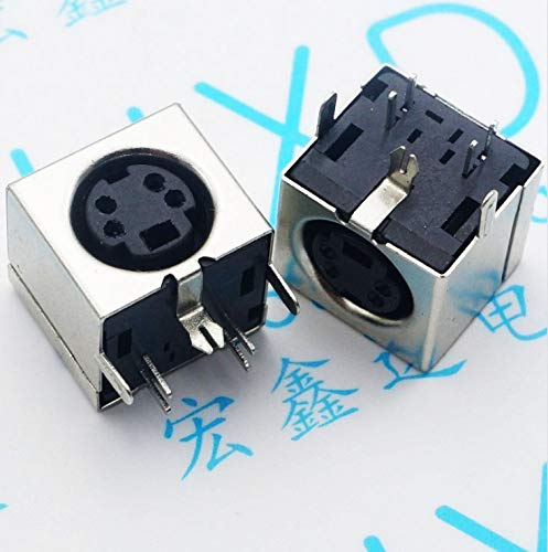 (Gimax 40pcs PS2 socket 4P health bezel socket PS-2 Keyboard socket PS2 mouse interface socket)