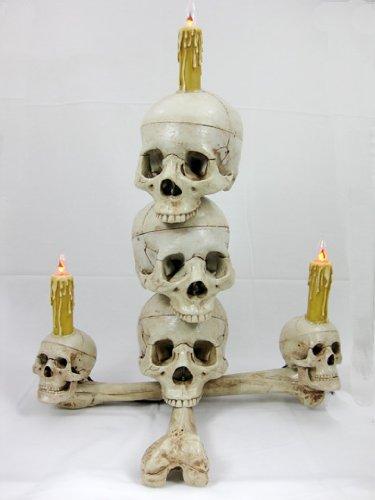Lighted Skull Display- Three Skull -