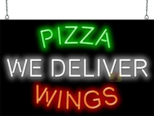 - Pizza Wings We Deliver Neon Sign