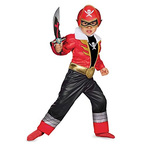 MegaForce Power Rangers Red Ranger Toddler Muscle Costume