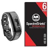 [6 Pack] Spectre Shield for Garmin Vivosmart HR Screen Protector Accessory Screen Protector for Garmin Vivosmart HR Case Friendly Full Coverage Clear Film