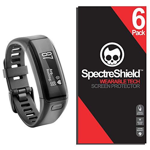 Spectre Shield for Garmin Vivosmart HR Screen Protector (6-Pack) Accessory Screen Protector for Garmin Vivosmart HR Case Friendly Full Coverage Clear Film