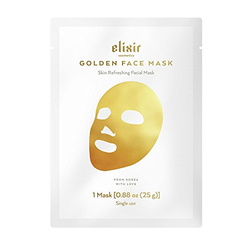 Elixir Gold Korean Face Mask | Collagen & Anti Aging Wrinkle Treatment | Luxury Peel Off Moisturizing Facial Sheet (1 Pack)