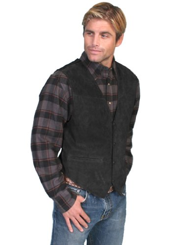 Scully Men's Suede Leather Vest Black X-Large
