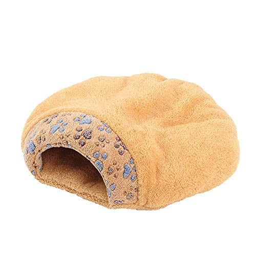 GY Pet Nest Cat Sleeping Bag Semi-Closed Removable Washable Cat Litter House Puppy Pet Bed Kennel Winter Mat -55cm / 60cm (Size : ()
