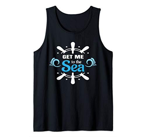 Get Me to the Sea Anchor Travel Ocean Water Wheel Vacation Tank Top