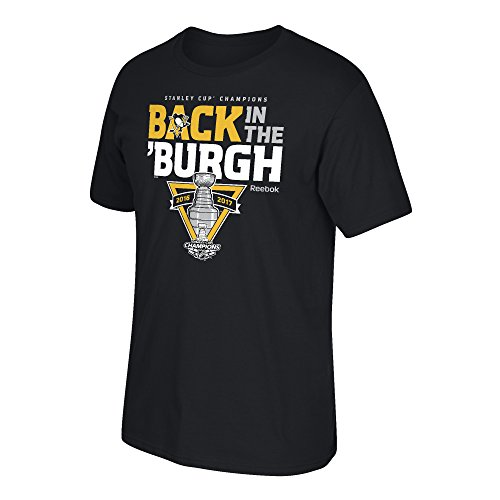 NHL Pittsburgh Penguins Adult Men Stanley Cup Celebration S/Tee, X-Large, Black