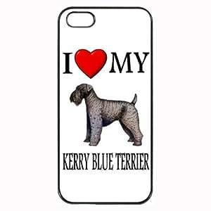 Pink Ladoo? Custom Kerry Blue Terrier I Love My Dog Photo iPhone 5 5S Case Cover Hard Shell Back wangjiang maoyi