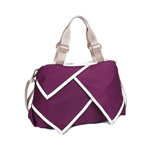 Walcy Nylon Korean Style Women's Handbag,Square Cross-Section Splicing Packet - Street George Sydney