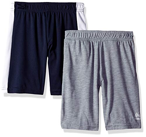 RBX Boys' Toddler 2 Pack Tricot Pants, Navy/Gray Heather, 4T ()