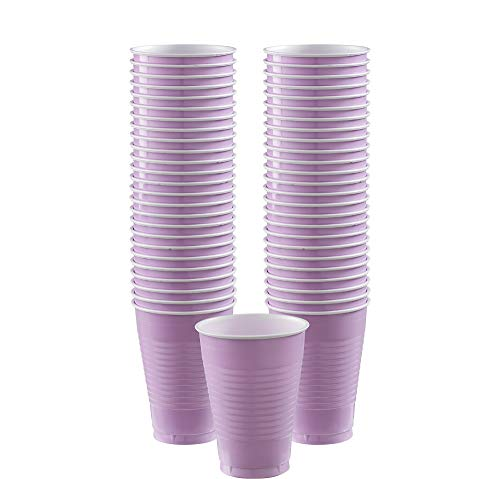 Big Party Pack Lavender Plastic Cups | 12 oz. | Pack of 50 | Party Supply