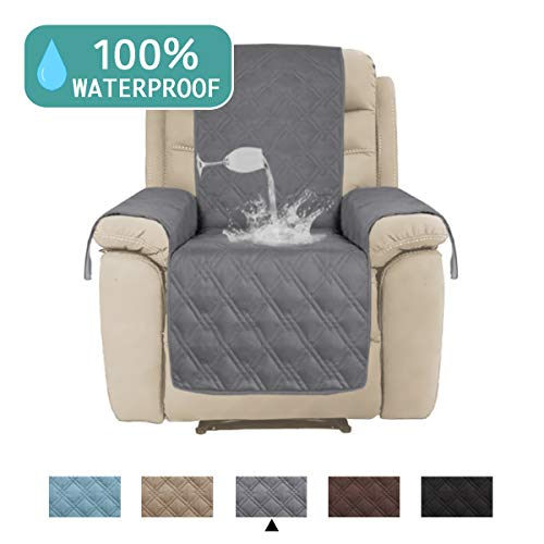 - Waterproof Recliner Chair Cover for Large Recliner Premium Quilted Furniture Protector Chair Slipcover Non Slip Quilted Protector Cover Perfect for Pets and Kids (Oversize Recliner,91