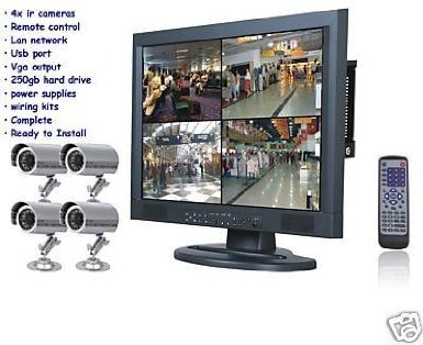 J2C-NEW 4 IR CAMERAS 250GB DVR 15