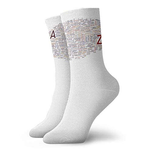 YUANSHAN Socks Same Words Different Meanings Women & Men Socks Soccer Sock Sport Tube Stockings Length -