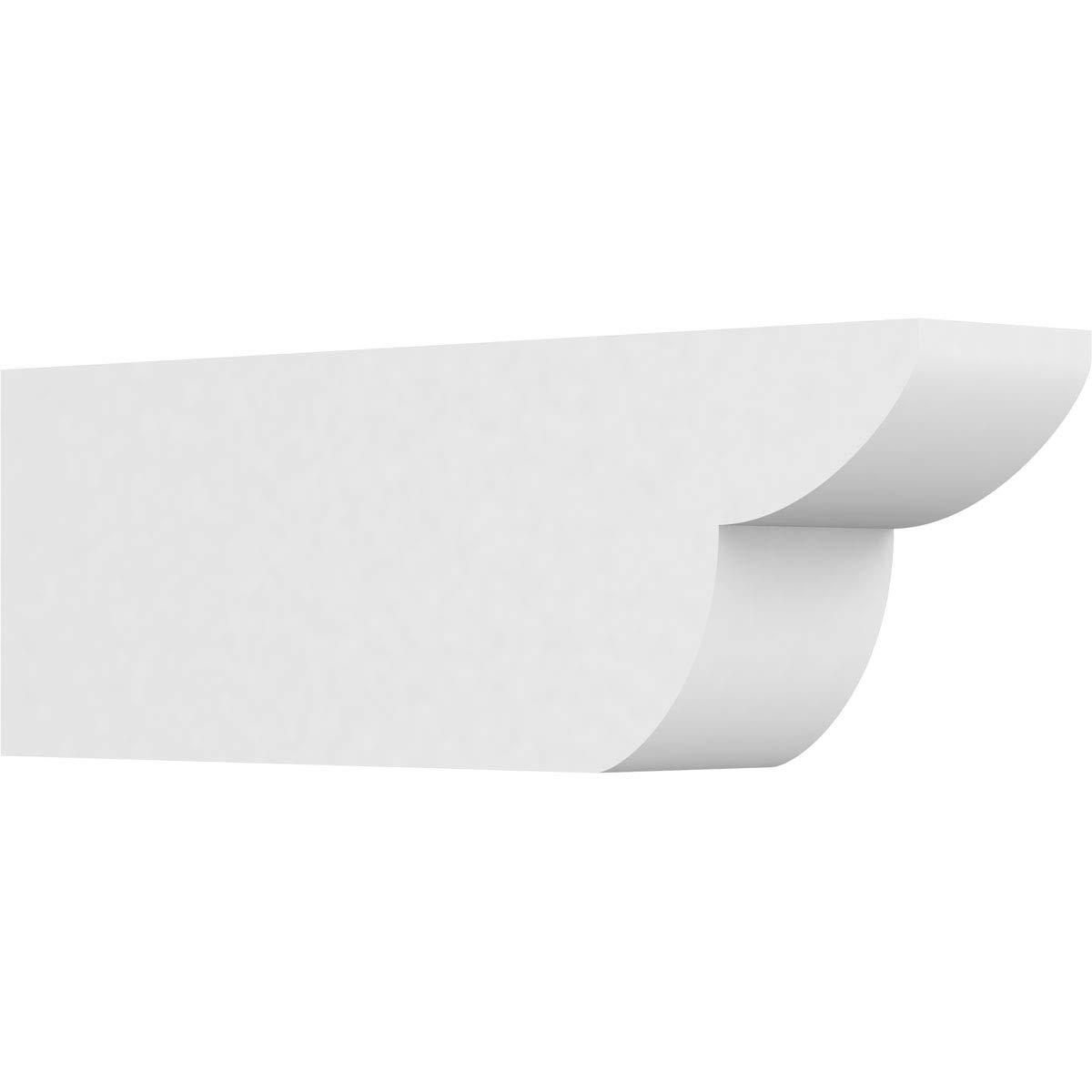 Ekena Millwork RFTP05X08X24CRE Crestline Architectural Grade PVC Rafter Tail, 5''W X 8''H X 24''L, Ivory by Ekena Millwork