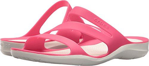 Crocs Kvinners Swift Sandal Paradis Rosa / Hvit