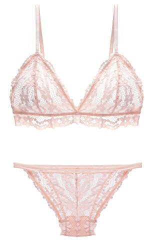 The victory of cupid Womens Lace Bra and Panty Set Bralette Set Lingerie Costume