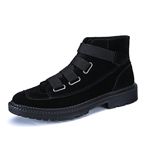Martin Fashion Weweya Boot Oxford Mens Ankle Winter Warm Outdoor Boots Boots Man Black Shoes Black xnTxS7