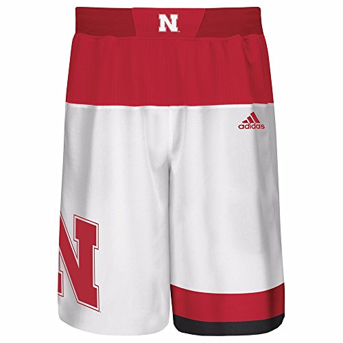 Youth Home Replica Basketball Shorts (adidas Nebraska Cornhuskers NCAA White Official Home Replica Basketball Shorts For Youth (XL))